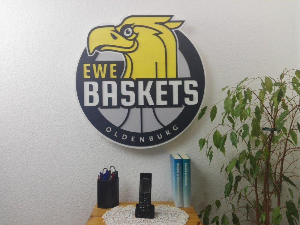 3D-Logo EWE Baskets Oldenburg
